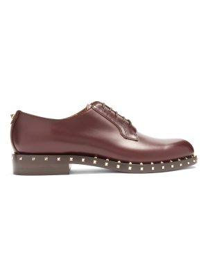 Valentino Soul Rockstud leather derby shoes