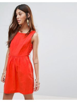 Valley Of The Dolls Santa Maria Dress With Lace Up Sides