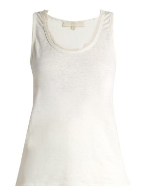Vanessa Bruno Early frayed-neck linen top