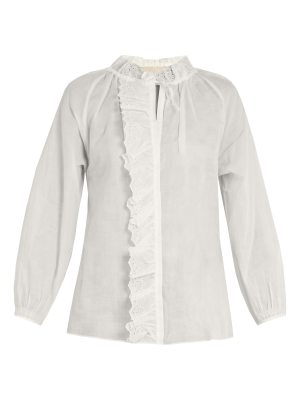 Vanessa Bruno Guylaine broderie-anglaise cotton top