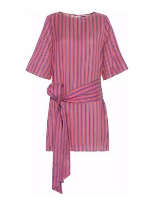 Vanessa Seward striped silk mini dress