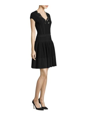 Versace Collection cap-sleeve fit-&-flare dress