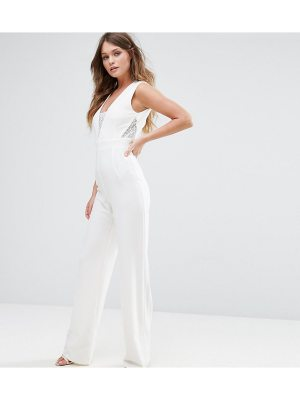 Vesper Tailored Jumpsuit With Lace Inserts