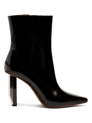 VETEMENTS Reflector-heel leather ankle boots