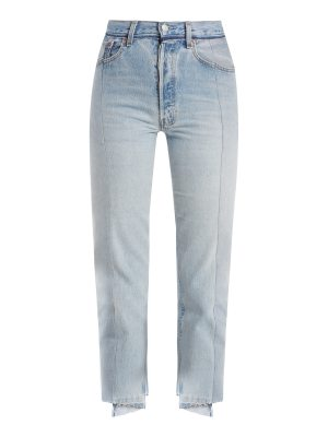 VETEMENTS Reworked straight-leg cropped jeans