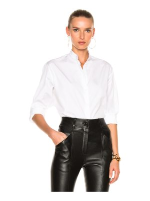 Victoria Beckham Cotton Shirting Grandad Shirt