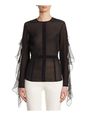 Victoria Beckham open back ruffle top