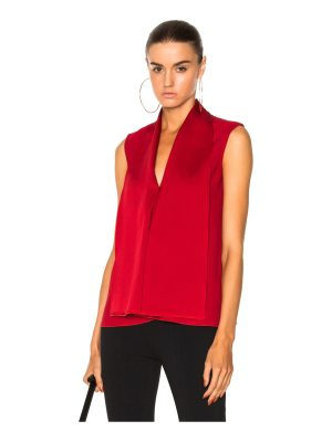Victoria Beckham Satin Back Crepe Sleeveless Blouse