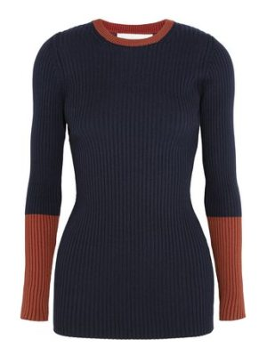 Victoria Beckham two-tone ribbed wool