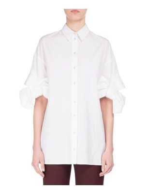 Victoria by Victoria Beckham Bow-Cuff Cotton Shirt