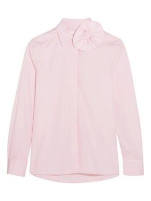Victoria by Victoria Beckham bow-embellished cotton