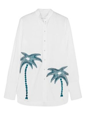 Victoria by Victoria Beckham embroidered cotton shirt