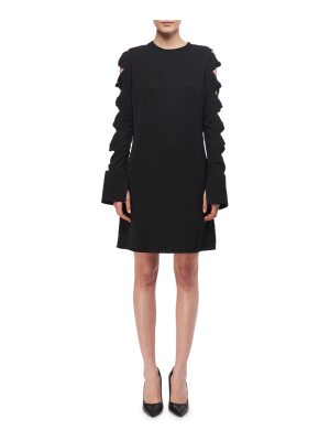 Victoria by Victoria Beckham Knotted-Sleeve A-Line Minidress