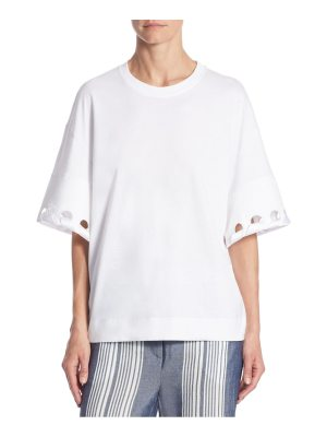 Victoria by Victoria Beckham laced cotton tee