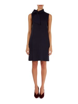 Victoria by Victoria Beckham Tie-Neck Chemise Dress with Pockets