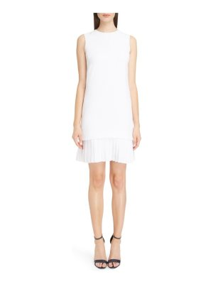 Victoria by Victoria Beckham victoria victoria beckham pleated hem shift dress