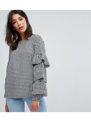 Vila Frill Sleeve Gingham Top