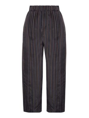 Vince cropped striped satin straight