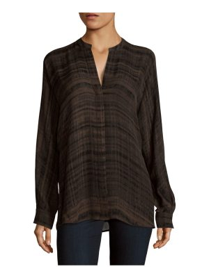 Vince Hazy Printed Silk Top