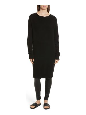 Vince off the shoulder wool & cashmere sweater dress