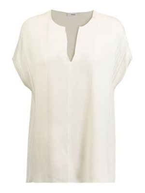 Vince pintucked silk top