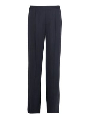 Vince pleated washed-satin wide