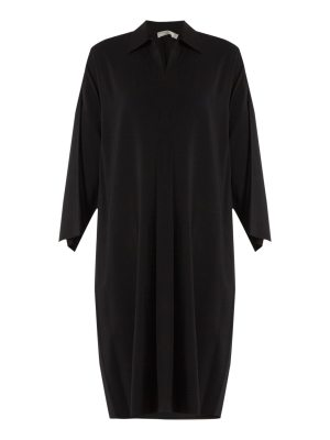 Vince Point-collar stretch-crepe dress