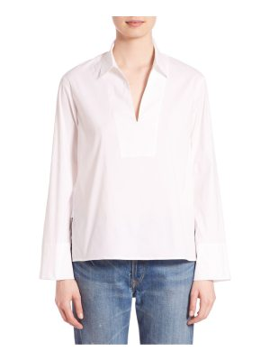 Vince Solid Long Sleeve Top