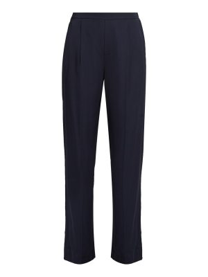 Vince Wide Leg Stretch Satin Trousers