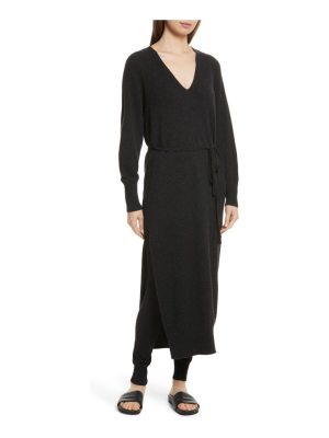 Vince wool & cashmere side slit maxi dress