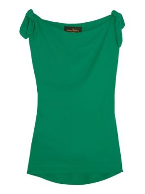 VIVIENNE WESTWOOD ANGLOMANIA knotted crepe top