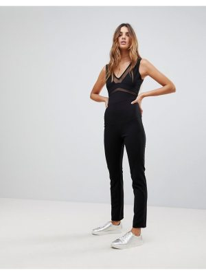Wal G Jumpsuit with Sheer Detail