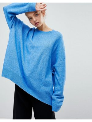 Weekday batwing knit sweater-blue