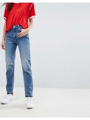 Weekday Seattle Mom Jeans with Rips