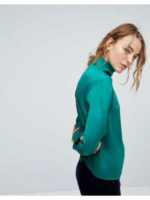 Weekday Slinky High Neck Blouse