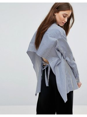 Weekday Stripe Shirt with Open Back Detail