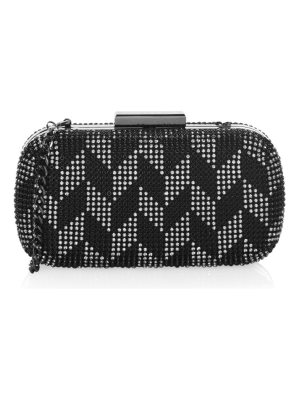 Whiting & Davis two-tone chain clutch