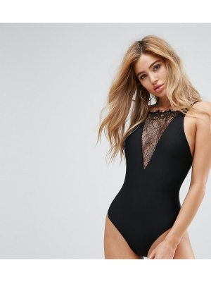 Wolf & Whistle Lace Plunge Swimsuit