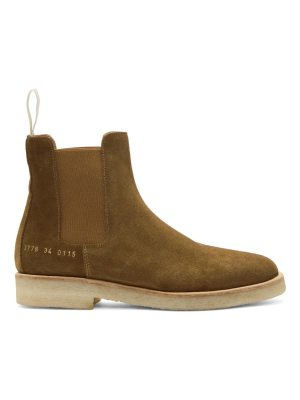 Woman By Common Projects Suede Chelsea Boots