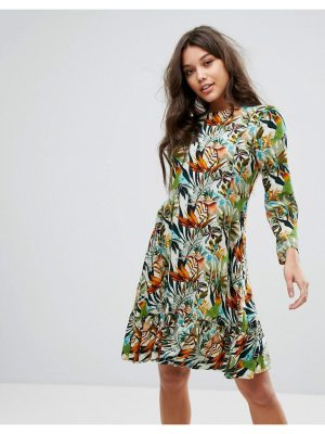 Y.A.S Drop Waist Dress With Long Sleeve