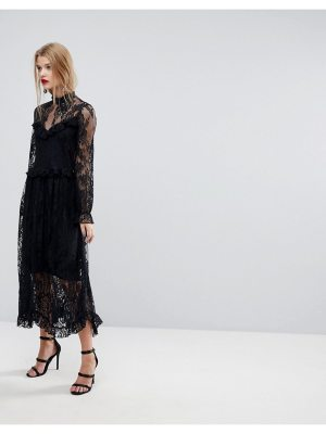 Y.A.S Lace Dress With Ruffle Detail