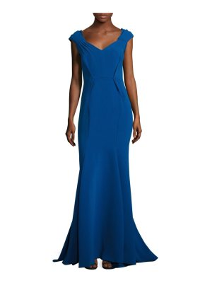 Zac Posen cap-sleeve mermaid gown