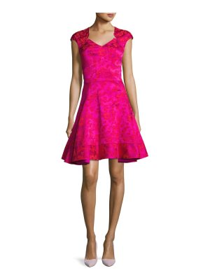 Zac Posen Floral Jacquard Fit & Flare Cocktail Dress