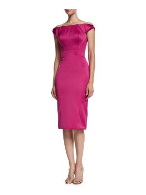 Zac Posen Off-The-Shoulder Cocktail Dress