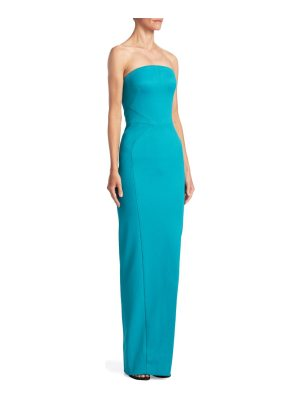 Zac Posen seamed strapless gown