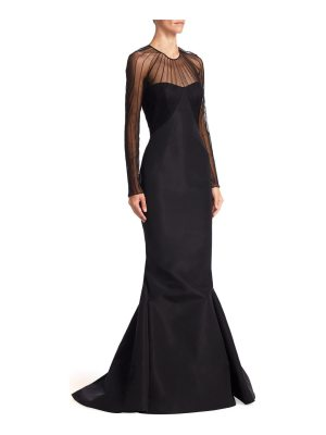 Zac Posen silk faille gown