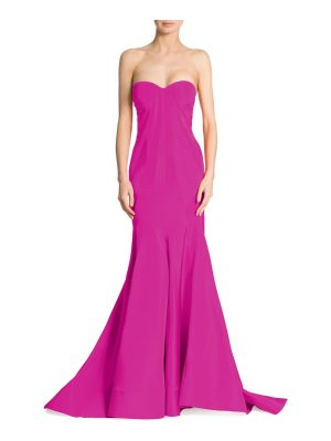 Zac Posen silk faille strapless gown