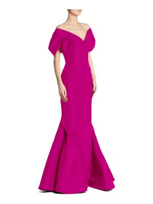 Zac Posen silk v-neck gown