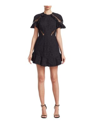 Zimmermann lace-up eyelet dress