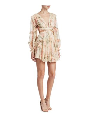 Zimmermann silk floral cutout dress